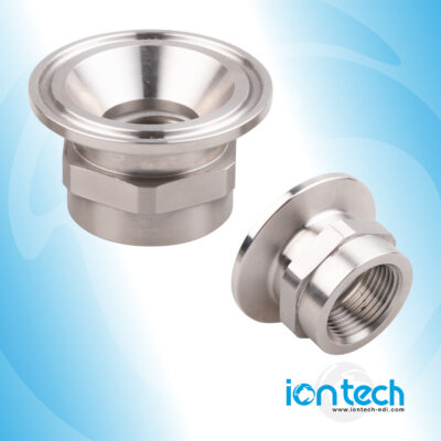 Iontech SS316l Try-clamp Concentrate connector 3_4inch BSP x 1,5 Try-Clamp